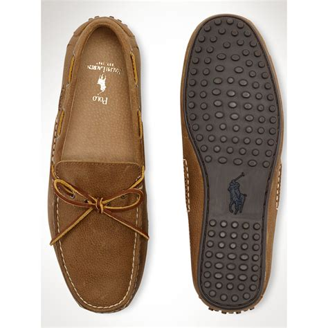 polo ralph wyndings slip on loafers lyst polo ralph wyndings loafer in brown for
