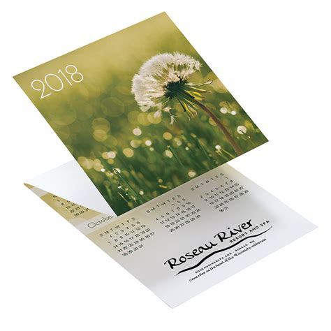 calendar card layout custom tri fold calendars folding calendar cards