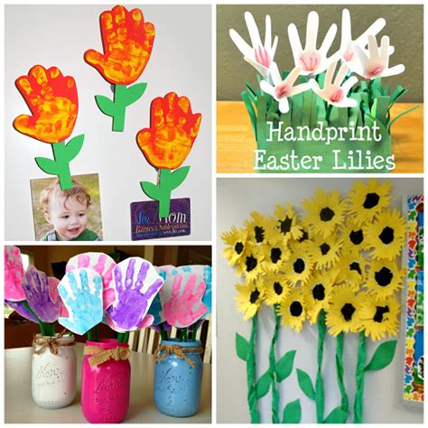 flower craft ideas for handprint flower craft ideas for crafty morning
