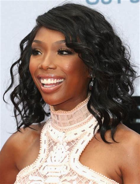brandy norwood wigs mid length curly glueless lace front human hair wig