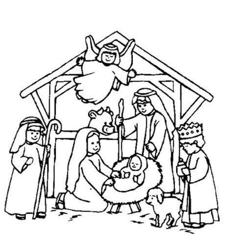 coloring sheets jesus birth nativity coloring pages birth of jesus christ coloringstar
