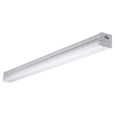 commercial electric led light strip commercial electric 42 in brushed nickel bright white led