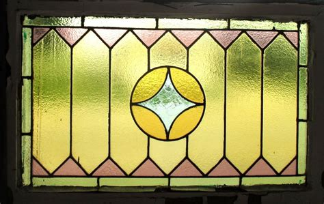 Antique Stained Glass L by Antique American Stained Glass Window 34 X 22 75 2of2 Architectural Salvage Ebay