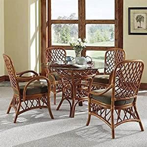 antigua rattan 7 pc dining set with 4 side
