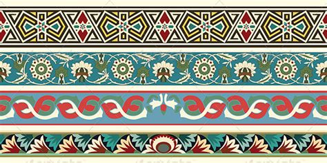 set of arabesque pattern frame border set of four decorative arabesque borders by paulrommer