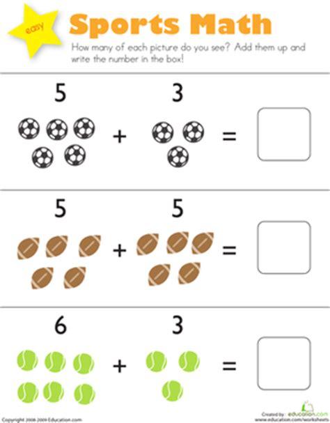 sports math worksheet education com