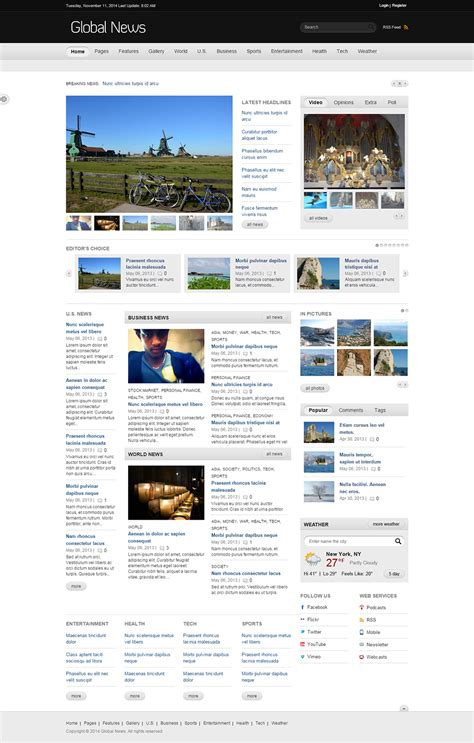 drupal themes portal drupal news portal website templates themes free