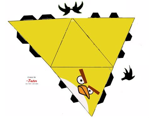Papercraft Bird Template - yellow bird cutout angry birds papercraft
