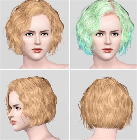 sims 2 short curled bob curly bob hairstyle foam summer j101 by newsea