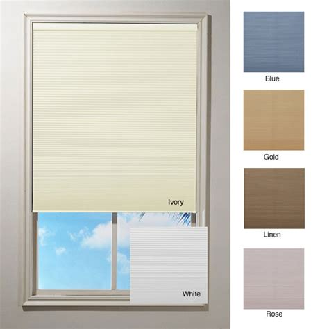L Shades Overstock by Cordless Honeycomb Cellular Window Shade 64 In