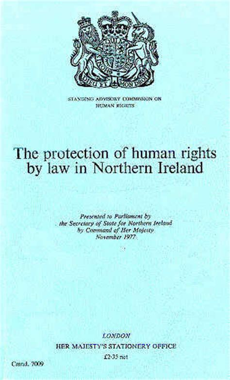 human rights caign cain hmso the protection of human rights by law in