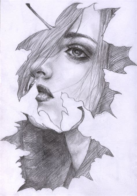 pencil drawings from photos free bless the fall by openlocks on deviantart