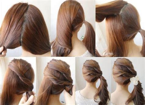 hairstyles easy to do on yourself simple diy braided bun puff hairstyles pictorial