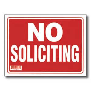 Bazic no soliciting sign set of 24