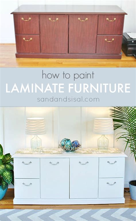 What Is The Best Paint For Painting Furniture by How To Paint Laminate Furniture Sand And Sisal