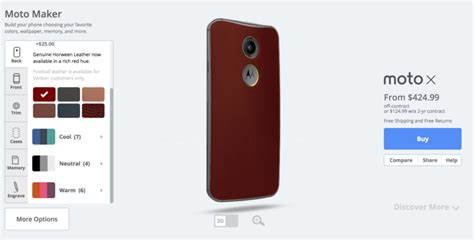 maker motor not turning moto x 2nd gets a leather option in moto maker