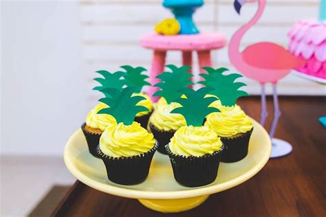 kara s party ideas pineapple cupcakes from a tropical