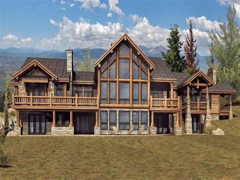 log home plans montana home plan
