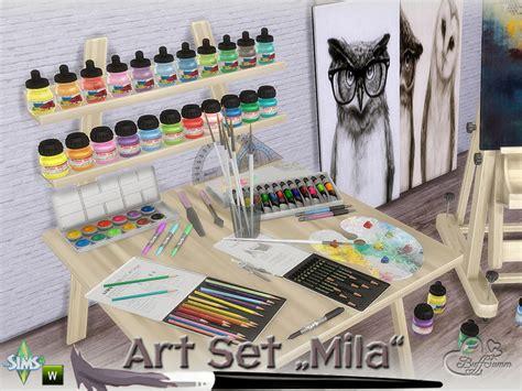 sims 4 set cc buffsumm s mila art hobby set