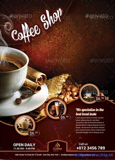 cafe flyer template 50 best coffee shop flyer print