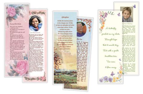 memorial bookmarks template free 8 best images of obituary bookmarks free printable free