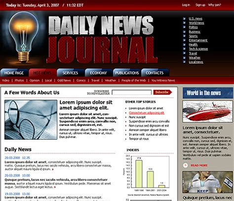 news flash template daily news html website template best website templates