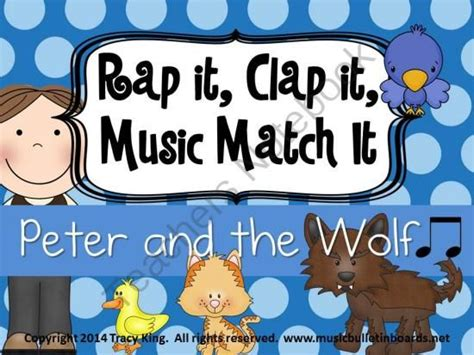 rap music board rap it clap it music match it peter and the wolf