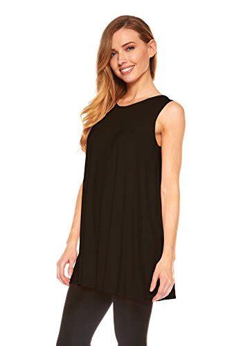 Oversized Blouse Jumbo Piya Flowy womens sleeveless a line tank top tunic solid basic flowy top black l apparel