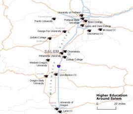 Colleges In Oregon Map by Education Opportunities Abound