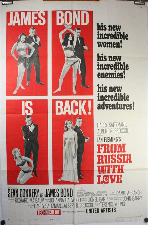 from with a from russia with original vintage bond poster