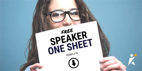 speaker  sheet template speakerhub
