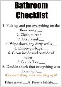 home fanatic cleaning checklist