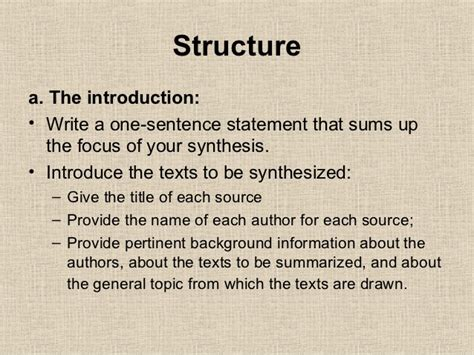 how to write a synthesis paper how to write a synthesis essay