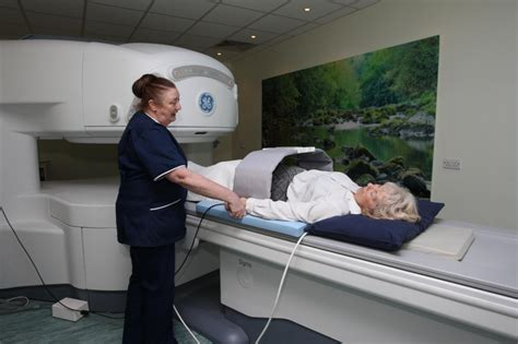 open scanner state of the open sided mri scanner to help sufferers