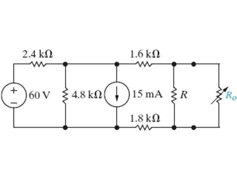 the variable resistor in the circuit is adjusted for maximum power transfer to ro the variable resistor in the circuit is adjusted f chegg