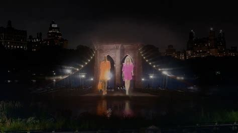 Holograms Replace On New York Catwalks holograms strut the catwalk for ralph the