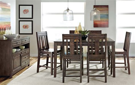 kincaid montreat tall dining table set in graphite by montreat extendable tall dining room set from kincaid 84