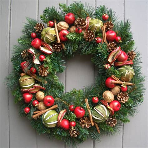 classic traditional evergreen christmas wreath by pippa