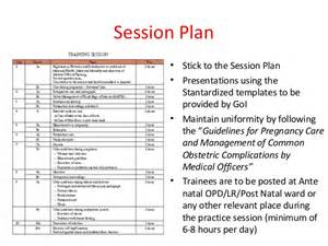 Session Plan Template by Introduction To Guidelines Session Plans
