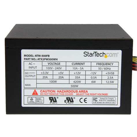 Power Bell 500 Watt 500 watt power supply 80 plus psus startech