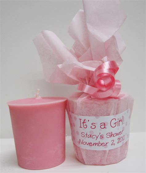Handmade Baby Shower Favors - baby shower favors 10 baby powder scented soy votives