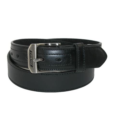mens leather logo buckle industrial strength work belt by