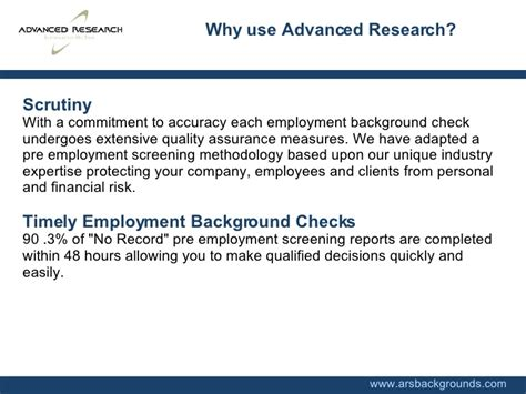 Employee Background Check Services Ars Backgrounds Pre Employment Background Check Screening Services