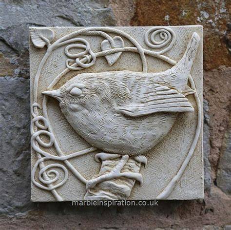 Wren Wall Tile Bird Design Garden Wall Plaque Garden Garden Wall Plaques