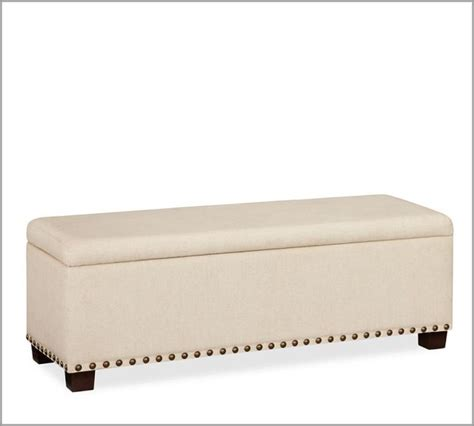 upholstered benches with storage raleigh upholstered storage bench with nailhead