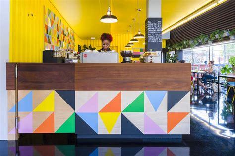 design cafe funding morag myerscough designs colorful cafe in bernie grants