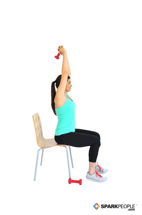 Dumbbell Chair Exercises by Exercise Tip Seated Triceps Cafemom