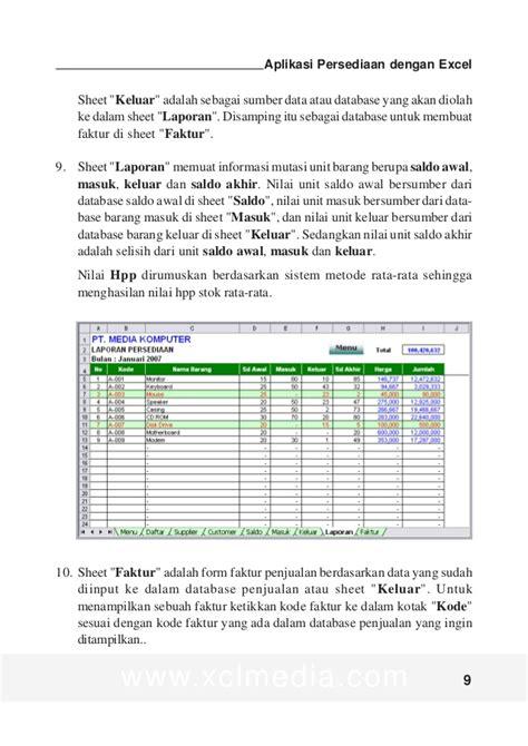 panduan membuat database dengan excel panduan aplikasi persediaan dg excel