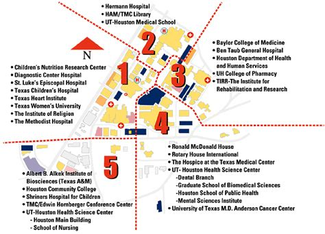 map of hospitals in texas map of houston center indiana map