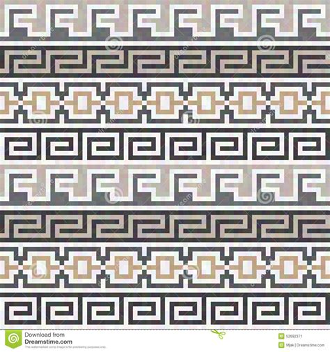 greek pattern texture seamless brown greek texture stock vector illustration